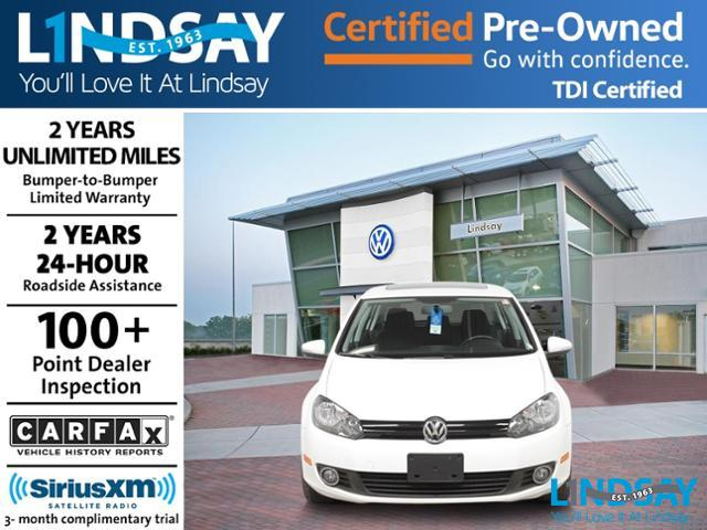 Certified Pre-Owned 2012 Volkswagen Golf TDI with Sunroof & Navigation