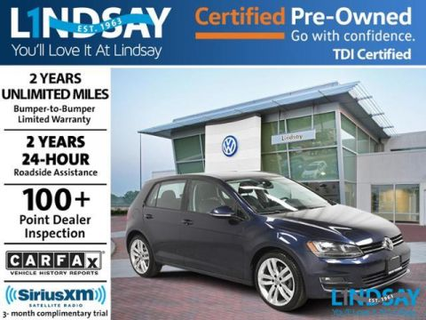 Certified Pre-Owned 2015 Volkswagen Golf TDI SEL with Lighting Package