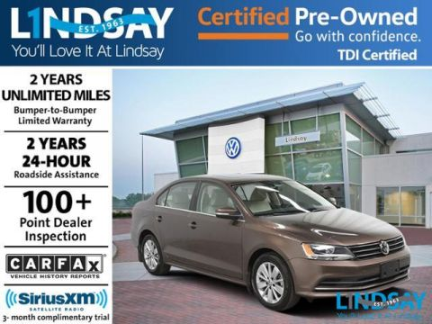 Certified Pre-Owned 2015 Volkswagen Jetta TDI SE with Connectivity