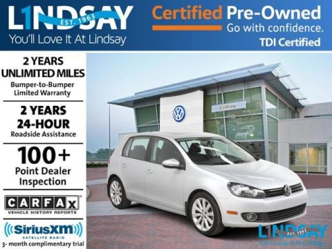 Certified Pre-Owned 2013 Volkswagen Golf TDI with Sunroof & Navigation